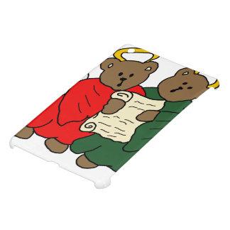 Gesang-Teddybär-Engel ist rote und grüne Roben iPad Mini Hülle