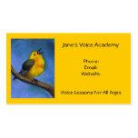 Gesang-Vogel: Kunst: Sprachlektionen, Kalender-an Visitenkartenvorlage