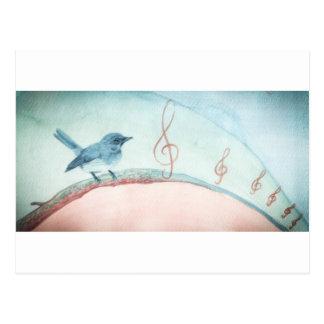Gesang-Vogel Postkarte