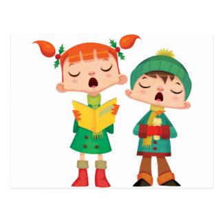Gesang-Weihnachtsliede Postkarte