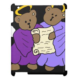 Gesangteddy-Bärn-Engel in den lila Roben iPad Hülle