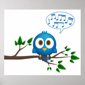 Gesangvogelplakat Poster