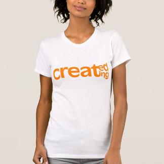 Geschaffen, das zierliche T-Stück der Frau T-Shirt