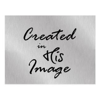 Geschaffen in seinem Bild-christlichen Zitat Postkarte