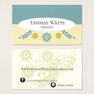 Geschäft Card Flower Clean Visitenkarte