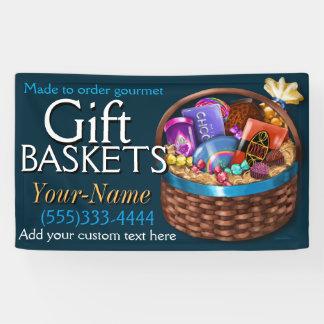 Geschäft des Geschenk-Basket.Gourmet der Nahrung Banner
