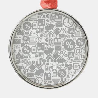 Geschäft ein background3 silbernes ornament