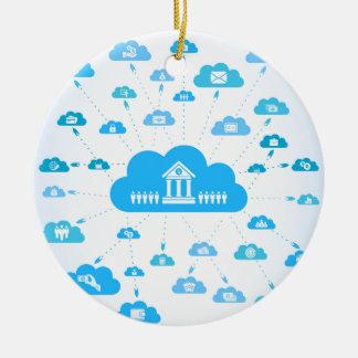 Geschäft ein cloud3 keramik ornament
