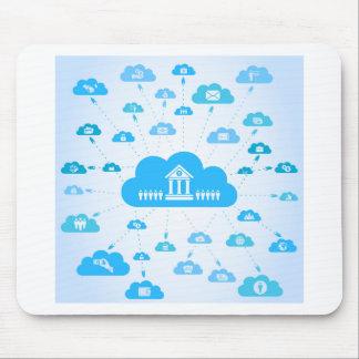 Geschäft ein cloud3 mousepad