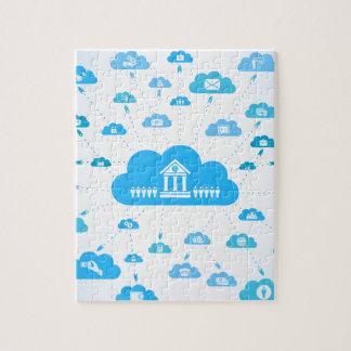 Geschäft ein cloud3 puzzle