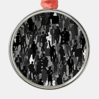 Geschäft ein Hintergrund Silbernes Ornament