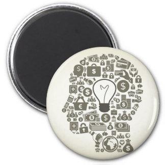 Geschäft ein Kopf Runder Magnet 5,7 Cm