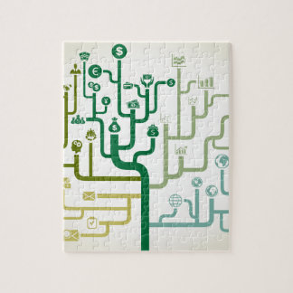 Geschäft ein Labyrinth Puzzle