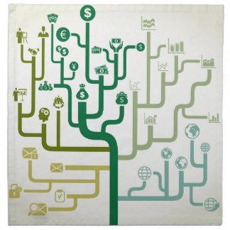 Geschäft ein Labyrinth Stoffserviette