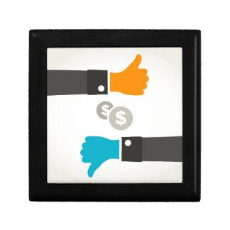 Geschäft eine Hand Geschenkbox
