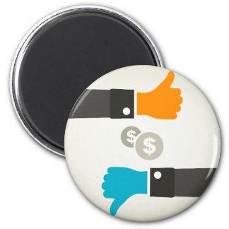 Geschäft eine Hand Runder Magnet 5,7 Cm
