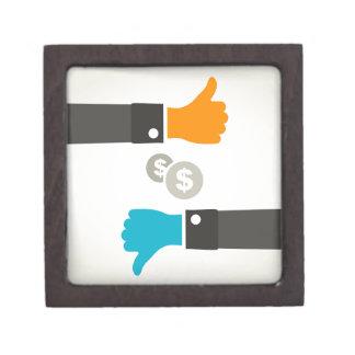 Geschäft eine Hand Schmuckkiste