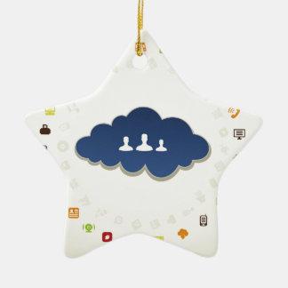 Geschäft eine Wolke Keramik Ornament