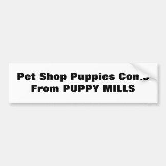 Geschäft- für Haustierewelpen kommen von den WELPE Autoaufkleber