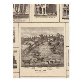 Geschäfte in Charles-Stadt, Davenport Postkarte