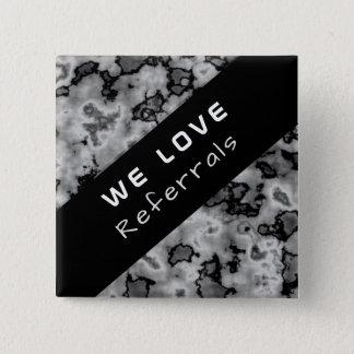 Geschäfts-fördernde Empfehlung - schwarzer Marmor Quadratischer Button 5,1 Cm