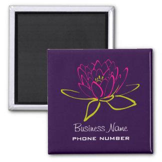Geschäfts-fördernde Lotos-Blume Quadratischer Magnet