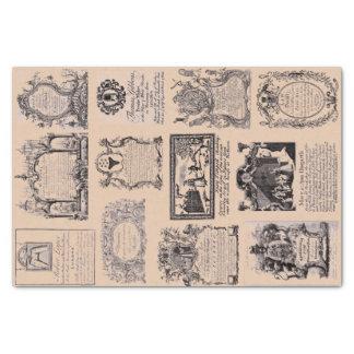 Geschäfts-Handels-Karten-Sammlung des 18. Seidenpapier