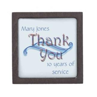 Geschäfts-Jahrestags-Anerkennung danken Ihnen Schmuckkiste