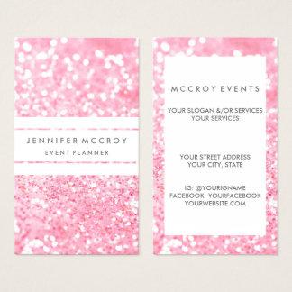 Geschäfts-Karte - Glitter-Geschäfts-Rosa Visitenkarte