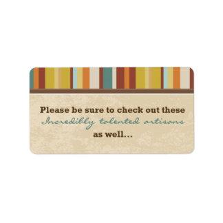 Geschäfts-Karten-Beutel-Siegel (für Ereignisse) Adress Aufkleber