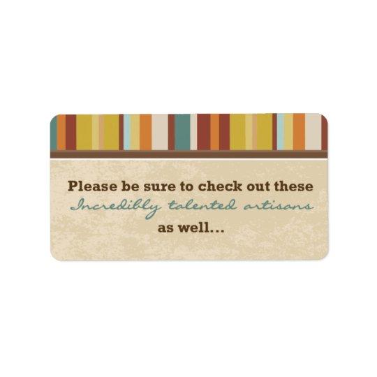Geschäfts-Karten-Beutel-Siegel (für Ereignisse) Adressaufkleber