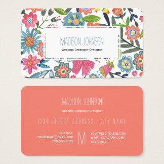 Geschäfts-Karten der Wasserfarbe-Blumen-| des Visitenkarte