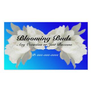 Geschäfts-Karten - elegante weiße Rosen und Visitenkarten Vorlage