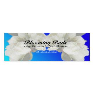 Geschäfts-Karten - elegante weiße Rosen Visitenkarten