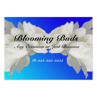 Geschäfts-Karten - elegante weiße Rosen Visitenkartenvorlage