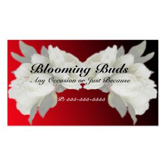 Geschäfts-Karten - elegante weiße Rosen Visitenkarten Vorlagen