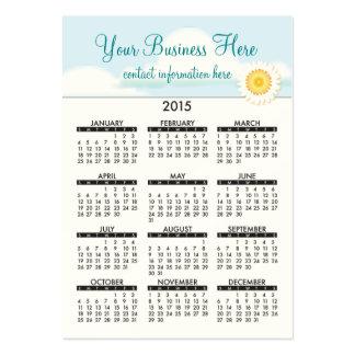 Geschäfts-Karten-Kalender-Bio Schönheit 2015 Jumbo-Visitenkarten