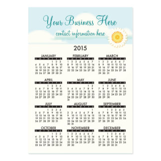 Geschäfts-Karten-Kalender-Bio Schönheit Jumbo-Visitenkarten