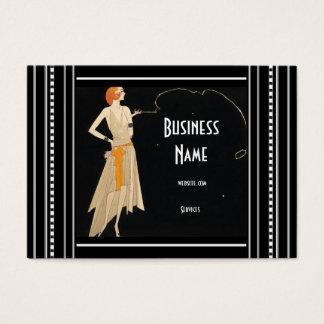 Geschäfts-Karten-Kunst Nouveau Deko-Mode elegant Jumbo-Visitenkarten