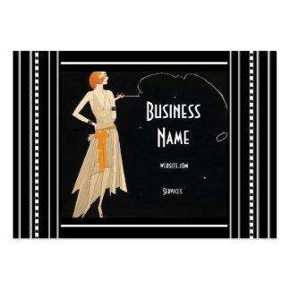 Geschäfts-Karten-Kunst Nouveau Deko-Mode elegant Mini-Visitenkarten