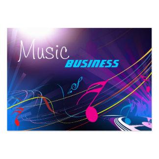 Geschäfts-Karten-Musik DJ tanzt Party Jumbo-Visitenkarten