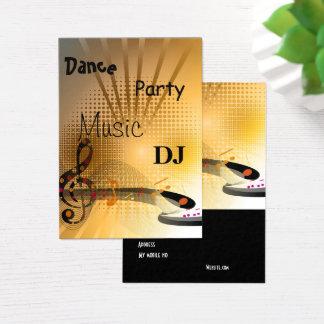 Geschäfts-Karten-Musik DJ tanzt Party Visitenkarte