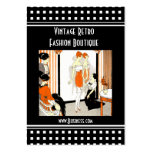 Geschäfts-Karten-Vintage Retro Mode-Butike Visitenkarte