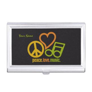 Geschäfts-Kartenhalter der FriedensLiebe-Musik Visitenkarten Dose