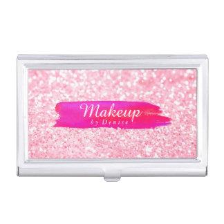 Geschäfts-Kartenhalter - Make-upGlitter-Rosa Visitenkarten Dose
