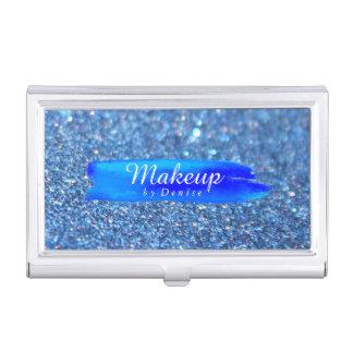 Geschäfts-Kartenhalter - Make-upGlitzer-Blau Visitenkarten Dose