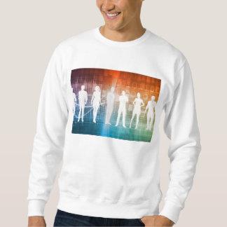 Geschäfts-Leute stehend in einer Reihe überzeugt Sweatshirt