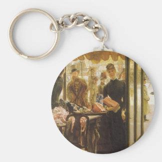 Geschäfts-Mädchen durch Tissot, Vintage Schlüsselanhänger