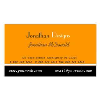 Geschäfts-mutige Orange Visitenkarten