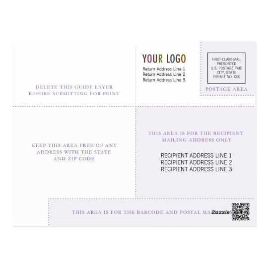 Geschäfts-Postkarten-Schablone mit Logo u. Indicia Postkarte
